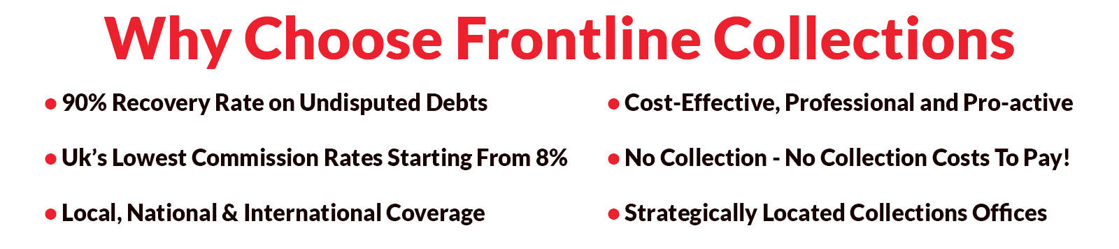 why choose frontline collections